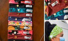 Bandeau pour accrocher les masques | Localiv.fr Bandeau, Sewing, Crafts, Recherche Google, Facebook, Clothes, Crochet Scarfs, Scrappy Quilts, Craft