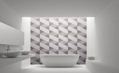 Fusilli überzeugt durch eine klare Geometrie. Die kontinuierliche Abwechslung der warmen Brauntöne lässt den Charme des Art Deco auch im Bad erleben. #thebathfashionst #wedressyourbath #rebado2020 +++ Neue Kollektion 2020 +++ Mit der ASPERO Kollektion erweitert rebado seine Oberflächenserie mit innovativen Designs. Die neue Oberflächenkollektion ist unverkennbar: geometrische Architekturdetails, fantastische Ornamentmuster oder geheimnisvolle Dschungelmotive sorgen für magische Räume. Fusilli, Designs, Art Deco, Inspiration, Style, Glamour, Warm Browns, Geometry, Biblical Inspiration