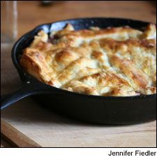 Fall vegetable pot pie with red wine sauce: Pair this warming seasonal dish with a red Bordeaux.