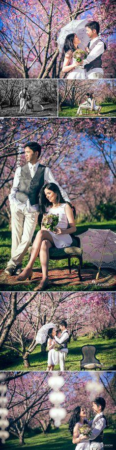 Feliz primeiro de Setembro, gente!!! Vamos começar o mês primaveril com um ensaio cheio de amor e muitas flores? Prometo que será a última vez este ano que eu falo sobre Cerejeiras! (; Fiquei tão e...