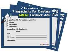 Free webinar on February 23rd 2016: 7 Ingredients For Creating GREAT Facebook Ads