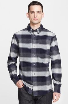 Jack Spade 'Henderson' Check Woven Shirt