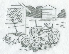 Tractor and Country Scene