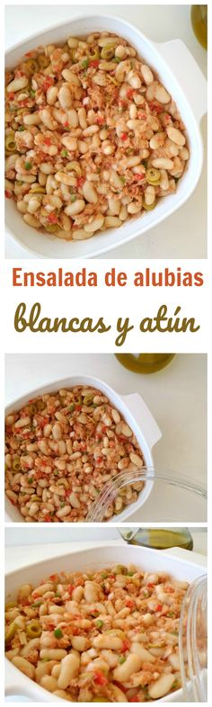 Ensalada de alubias blancas y atún (baja en calorías) | Receta fácil, con pocos ingredientes, lista en unos minutos | Tasty details