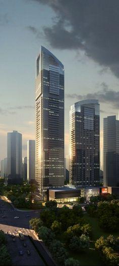 Longda Tower, Hangzhou, China :: 61 floors, height 268m