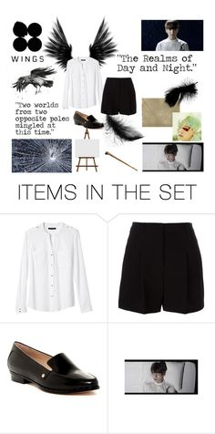 """""""BTS Wings Begin"""" by churrosforthewin ❤ liked on Polyvore featuring art, bts, btsjungkook and btswings"""