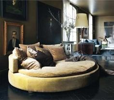 Perfect Round Couch Chair. Would Love To Have For Hubby U0026 I. This One