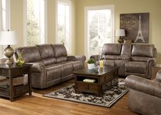 Oberson Gunsmoke Reclining Living Room Set
