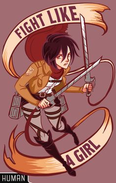 lisasterle: Attack on Titan shirts, canvas prints Gahh, Mikasa you took me forever to draw because those uniforms are so damn detailed. Worth it thooo ~
