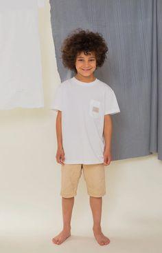 Rahkasammal kid's T-shirt white - TAUKO Stand Collar Shirt, Collar Shirts, Barefoot Kids, Leftover Fabric, Light Blue Color, Baltic Sea, Sustainable Clothing, Knitwear, Button Up Shirts