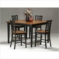 Bundle-97 Arlington 7 Piece Counter Height Gathering Table Set in Black and Java by Imagio Home. $1228.92. [***INCLUDED IN THIS SET: (1)Arlington Counter Height Gathering Table in Black and Java, (2)Arlington Lattice Back Barstool in Black and Java, (4)Arlington Lattice Back Barstool in Black and Java] Features: -18'' Self storing butterfly leaf that opens to 54'' square.-Chair has ergonomic lattice back and seat support.-Leg stretchers for added durability. Includes: -Set in...