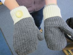 The DIY Sweater Mitten Making Mansion and Tutorial: A Blast From the Past: 2012   The Renegade Seamstress Renegade Seamstress, Work Boot Socks, Sweater Mittens, Knit Sneakers, Cool Sweaters, Refashion, Leg Warmers, That Look, The Past