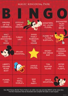 "Play ""Walt Disney World Bingo!""  Here is the first of a series of Bingo cards that can be used while visiting the parks.  Make it a family effort or turn it into a competition.  Who knows, maybe you will see something new."