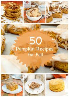 Over 50 Pumpkin Recipes for fall!! A #Pumpkin Roundup! #pumpkinrecipes