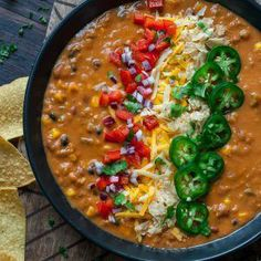 Added green chili's, used tom sauce, paste and diced. Added a small amount of sour cream at the end. This uber easy and crazy flavorful Vegetarian Lentil Tortilla Soup can be made in an Instant Pot pressure cooker, slow cooker, or on the stove - game on! Veggie Recipes, Mexican Food Recipes, Crockpot Recipes, Soup Recipes, Whole Food Recipes, Vegetarian Recipes, Cooking Recipes, Healthy Recipes, Dinner Recipes