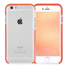 iPhone 7 Case, iPhone 7 Case Clear, FYY [Patent Shockproof][Military Material] Ultra Slim Fit Hybrid Clear Bumper Case Soft Silicone Gel Rubber Shockproof Impact Resistance Cover for iPhone 7 Orange