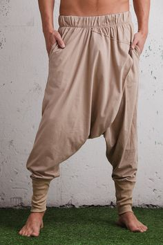 Low drop crotch ninja pants 100% organic cotton by VALOdesigns