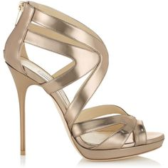 Jimmy Choo COLLAR Nude Mirror Leather Platform Sandals ($538) ❤ liked on Polyvore featuring shoes, sandals, heels, nude, heeled sandals, high heel sandals, women shoes, leather platform sandals and nude shoes