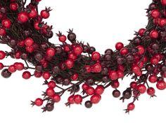 Europalms X-Mas 83500502 - Beerenkranz mit Beeren in verschiedenen Rottönen ¨Farbe rot (verschiedene Nuancen) ¨Durchmesser 46 cm ¨Inkl. Band zum Aufhängen