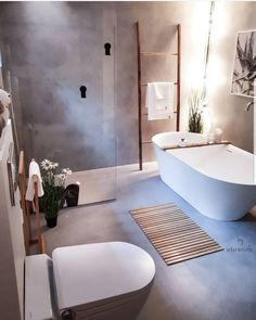Dreaming of an extravagance or designer master bathroom? We've gathered together lots of gorgeous bathroom some ideas for small or large budgets, including baths, showers, sinks and basins, plus master bathroom decor suggestions. Boho Bathroom, Bathroom Inspo, Grey Bathrooms, Bathroom Layout, Bathroom Styling, Bathroom Interior Design, Bathroom Inspiration, Small Bathroom, Master Bathroom