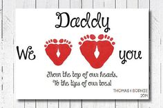 Personalized Father's Day Gift for New by PerfectLittlePrints