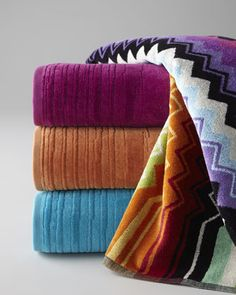 """""""Giacomo"""" & """"Kian"""" #Towels by Missoni Home at #Horchow."""