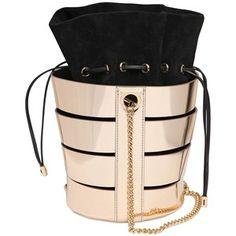 Salvatore Ferragamo Women Cutout Metallic Nappa Bucket Bag