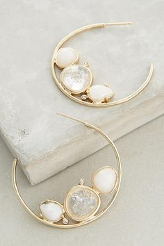 Evening Droplet Hoops - anthropologie.com
