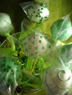 St. Pattys day cake pops with Chocolate stout cake.