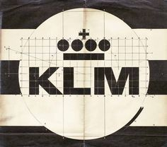 garadinervi:  Xerox of KLM logo, design Henrion,... at Charly Morfin