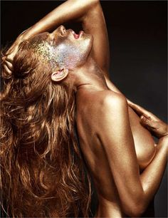 nude art, body glitter - Google-søgning