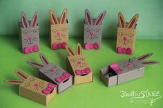 KreativStanz Thinlits Freunde mit Ecken und Kanten, Stempelset Playful Pals von Stampin' Up! Verpackung Ostern Easter Matchbox Hase #stampinup #matchbox http://kreativstanz.bastelblogs.de/