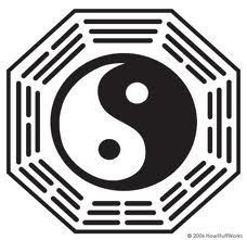Logo yin and yang, ebb and flow.