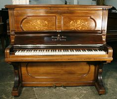 An 1894,  Steinway upright piano with a polished, rosewood case at Besbrode Pianos