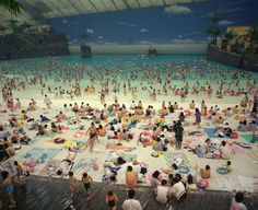 Martin Parr  Small World  JAPAN. Miyazaki. The Artificial beach inside the Ocean Dome. 1996