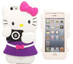 Roselets Web Store - Hello Kitty Picture Taking Pink Purple Case for iPhone 5, $18.99 (http://www.mydecenarios.com/hello-kitty-picture-taking-pink-purple-case-for-iphone-5/)