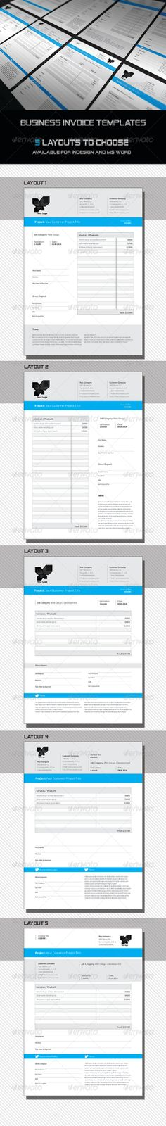 Business Invoice  Us Letter  Proposals  Invoices Stationery