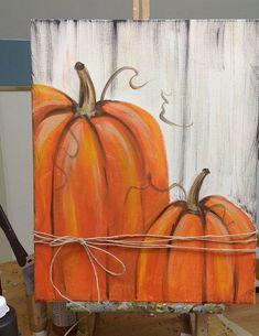Pumpkin Canvas Painting, Autumn Painting, Autumn Art, Fall Paintings, Painted Pumpkins, Glitter Pumpkins, Fall Pumpkins, Halloween Painting, Fall Crafts