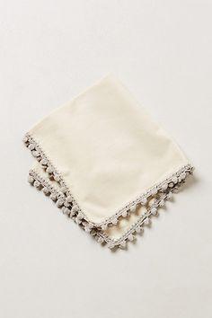 Crocheted Poms Napkin #anthropologie #pintowin