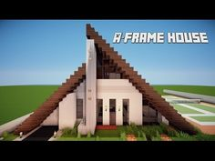 minecraft a-frame house - Google Search