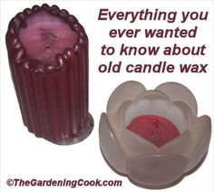 Candles - Tips and Tricks for Leftovers - The Gardening Cook