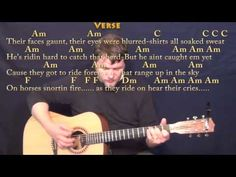Ghost Riders in the Sky - Strum Guitar Cover Lesson in Am with Chords/Lyrics - YouTube