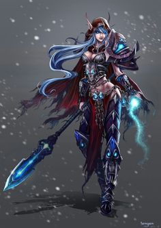 Night elf death knight... I would LOVE to cosplay this, except I'd change it to a human probably. Guilty pleasure.