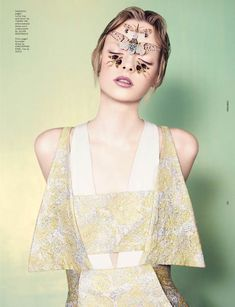 Elza Luijendijk Wears Butterfly Beauty for Ben Toms Dazed & Confused Shoot ~ Cynthia Reccord