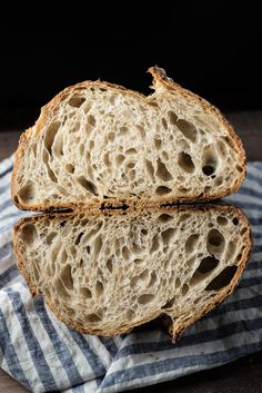 the perfect loaf sourdough crumb from liquid levain