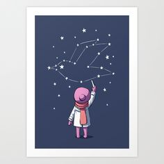 Constellation Art Print by Freeminds | Society6