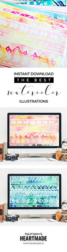 New watercolor patterns available for INSTANT DOWNLOAD in @designforhandmade…