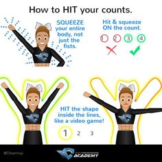 Cheer tips to improve your precision and how to hit your counts! Click on link for full article and more tips.