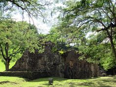The ruins of the former La Sucrerie distillery are near Petite Anse d' Arlet on Martinique, Eastern Caribbean. Distillery, Caribbean, Golf Courses, Country Roads