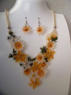 Chamomile Needle Lace Set by KamuranDesigns on Etsy, $80.00